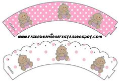 Minnie First Year with Polka Dots: Free Party Printables. Minnie Baby, Minnie Mouse 1st Birthday, Minnie Mouse Theme, Baby Disney, Baby Shower Clipart, Baby Shower Printables, Party Printables, Baby Shower Parties, Baby Shower Themes