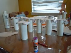 how to make pillars out of paper - Google Search