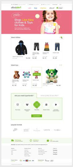affordable.pk by Umyr, via Behance