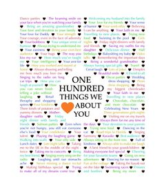 100 things we love about you Cute Boyfriend Sayings, Boyfriend Girlfriend Quotes, Boyfriend Notes, Love You Boyfriend, Boyfriend Gifts, Surprise Boyfriend, 100 Reasons Why I Love You, I Love You Mom, Happy Birthday Love Quotes