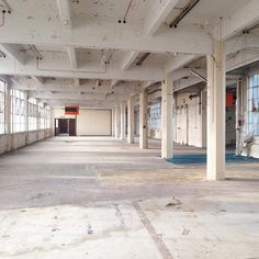 Empty warehouse spaces in London.