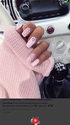 Tired of spending your time with your nails? Do you want most beautiful nail styles? The easiest and most practical nail styles for your nails here. colorful nails, nail styles, models of nail. Summer Acrylic Nails, Best Acrylic Nails, Acrylic Nail Designs, Nail Art Designs, Summer Nails, Simple Acrylic Nails, Heart Nail Designs, Acrylic Nails Pastel, Acrylic Nails Coffin Short