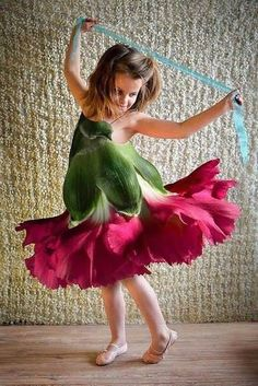 Flower costume for a little girl & Thank you so much for following my work! For information on webinars ...