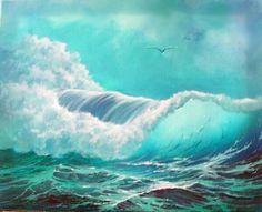 Old Oil painting Vintage - - Oil painting Animals Abstract - Oil painting Nature Ideas - Oil painting Inspiration Drawings Seascape Paintings, Oil Painting Abstract, Painting Wallpaper, Oil Paintings, Sea Waves, Ocean Art, Beach Art, Scenery, Pictures