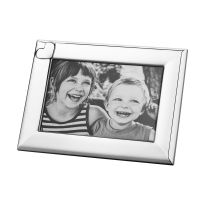 Silver Photo Frame Polished stainless steel Heart Love Photoframe 7 x 5. wedding gift inspiration.
