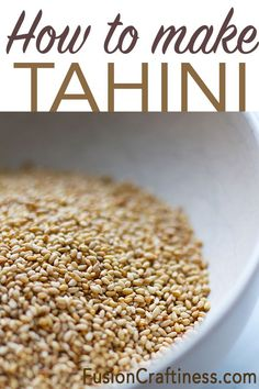 3 Ingredients and 5 minutes to make homemade tahini. A must have for middle eastern cooking, dive in! Raw Vegan Recipes, Gourmet Recipes, Appetizer Recipes, Vegetarian Recipes, Cooking Recipes, Healthy Recipes, Tofu Recipes, Vegan Raw, Healthy Dishes