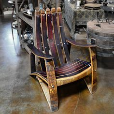 These Adirondack chairs are a perfect blend of solid good looks and classic comfort. Wine Barrel Diy, Wine Barrel Chairs, Whiskey Barrel Furniture, Wine Barrels, Barrel Bar, Bourbon Barrel, Barris, Barrel Projects, Wine Rack Wall