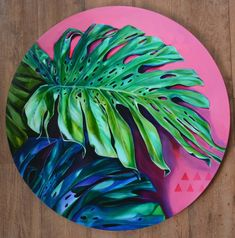 Tamara Armstrong is an Australian Visual Artist based in the Gold Coast hinterland, working and teaching art workshops from her purpose built home studio. Plant Painting, Plant Art, Vinyl Record Art, Tropical Art, Painted Leaves, Leaf Art, Canvas Art, Small Canvas Paintings, Creative Art