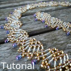 Fans Necklace Beadwork Pattern/Tutorial  Instant by BearlyBeaded