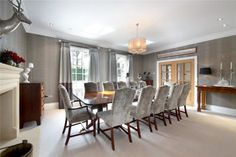 7 bedroom detached house for sale in Fulmer Common Road, Fulmer, Buckinghamshire, - Rightmove. Dining Room, Dining Table, House On A Hill, Detached House, Property For Sale, Bedroom, Blessings, God, Furniture