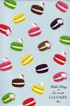 Hello kitty × #Laduree par MARKS packaging designs #macarons #hellokitty
