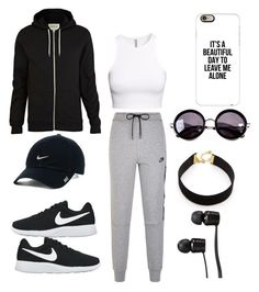 """""""Untitled #667"""" by novasb ❤ liked on Polyvore featuring River Island, H&M, NIKE, Linda Farrow, Casetify, Vanessa Mooney and Vans"""