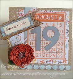 Save the Date card. Using The Scrapbooking Queens Royal Stamp set Wedding