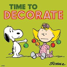Time to decorate