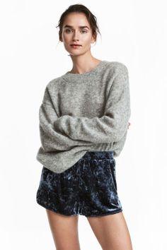 Sweter o luźnym splocie - Szary melanż - ONA | H&M PL 1