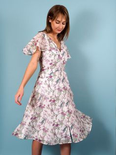 Swan Dress in Ornithes Voile