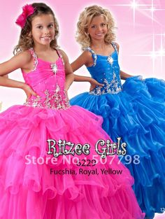 little girls pageant dresses | ... Pageant Dresses-in Flower Girl Dresses from Apparel & Accessories on