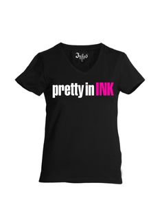 Women's Pretty In Ink V-Neck Tee