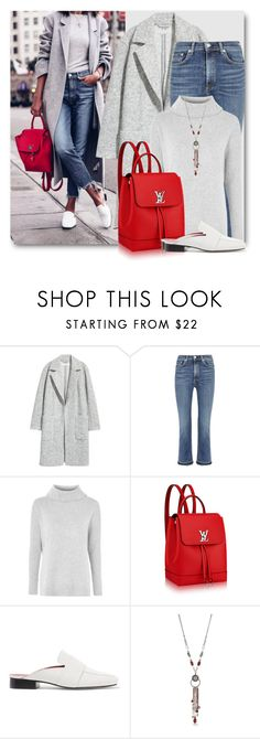 """""""City Chic"""" by brendariley-1 ❤ liked on Polyvore featuring rag & bone/JEAN, Topshop, Louis Vuitton, Dorateymur and Ruby Rd."""