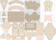 Shabby Chic Rosa: Completo Kit para Fiestas para Imprimir Gratis.
