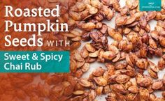 Roasted Pumpkin Seeds with Sweet & Spicy Chai Rub Prep time 5 mins Cook time 45 mins Total time 50 mins Ingredients cups pumpkin seeds 2 teaspoons melted butter (or olive oil or vegetable oil) 2 tbsp Steeped Tea's Sweet & Spicy Chai Rub (or any other) Toasted Pumpkin Seeds, Sweet And Spicy, Tea Recipes, Melted Butter, Recipe Using, Chai, Tea Time, Roast, Easy Meals