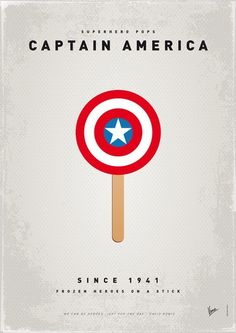 captain america lollipop Otherwise known as a CapScicle