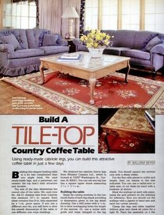 #834 Country Coffee Table Plans - Furniture Plans