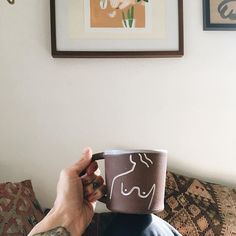 superfanning out this morning with my @tactilematter mug full of coffee next to my favorite @tactilematter painting. Just gonna fill our house with everything Kenesha Sneed puts her Midas finger to, k? if you aren't familiar with this rad human's work I recommend you go take a gander cuz it's the shit.