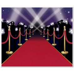 Roll out the red carpet! Set up for awards night in a jiffy, with our Red Carpet Insta-Mural. This fun backdrop features a printed red carpet, lined with stanchions, and filled with paparazzi and othe
