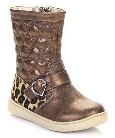 Love this Bronze Quilted Heart Boot on #zulily! #zulilyfinds
