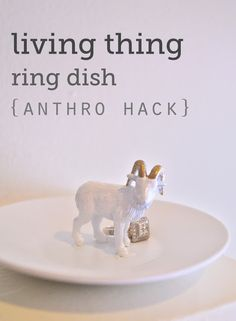 DIY ring dish inspired by Anthropologie. I want to make one with a lamb