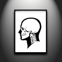 Skull, framed original hand-cut paper art by Papercuts by Joe
