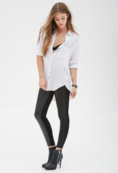 Faux Leather & Faux Suede Pants | FOREVER21