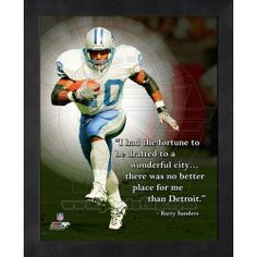Barry Sanders Pro Quote. - $19.99