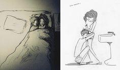 Muž kreslí pro svou ženu každý den obrázky zachycující jejich lásku v obyčejných věcech - Evropa 2 To Tell, Deep, Get Well Soon, Drawings, Fathers, Life