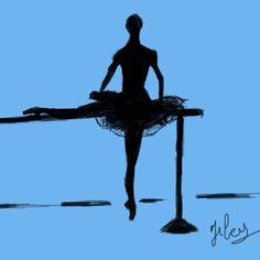 Étude de danseuse à la barre