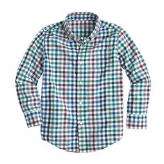 sz.6-7 This classic button-down is a go-to year-round—it's made from the same soft washed cotton we use for our men's shirts (so it's just like Dad's). <ul><li>Prewashed and preshrunk.</li><li>Regular fit.</li><li>Washed cotton.</li><li>Chest pocket.</li><li>Machine wash.</li><li>Import.</li></ul>