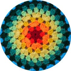 Pattern for how to do a really big granny circle