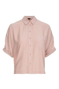 Dusty Pink Short Sleeve Roll Up Shirt