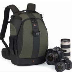 Lowepro Flipside 400 AW DSLR Camera Photo Bag Backpack & Weather Cover (green) for sale online Camera Backpack, Camera Gear, Backpack Bags, Slr Camera, Messenger Bags, O Flash, Camera Photos, Best Lunch Bags, Lunch Box