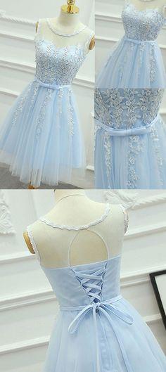 homecoming dresses short,blue homecoming dresses,lace homecoming dresses,tulle homecoming dresses @simpledress2480