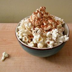 Microwave Popcorn with Cinnamon, Sugar, and Coconut Butter