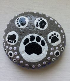 DOG BFF hand painted rock by DottyRoxAndMore on Etsy