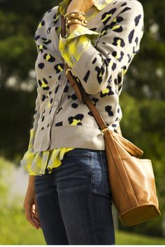 leopard cardy/jeans/boots/pink plaid OR gingham/leopard or pink bag/jeweled up yo. ashley-x