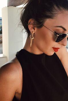 Gold Star Earrings    #fashion #jewellery #designer #style #necklace #pendant #greekdesigners #jewelry #earrings