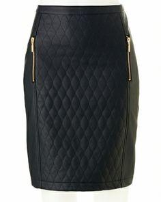 Faux Leather Pencil Skirt | Faux leather pencil skirt, Tutorials ... : quilted faux leather skirt - Adamdwight.com