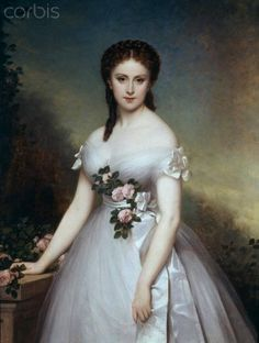 Portrait of Marie Rose (1869), painted by Alexis Joseph Perignon (French, 1806-1882)