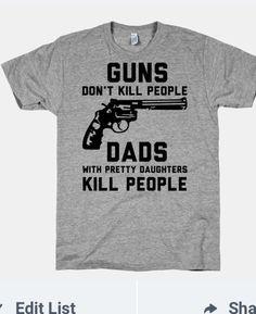 Pretty daughter , protective dad Tshirt