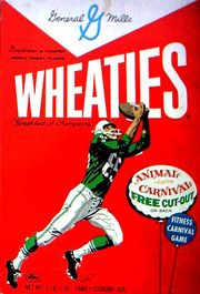 Wheaties cereal c. 1964 Used to always some athlete or Olympian on the box. Kids Cereal, Cereal Boxes, General Mills Cereal, Vintage Packaging, Packaging Design, Cereal Killer, Media Literacy, Retro Advertising