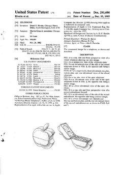Original 1985 Apple iPhone Design Patent Part 2.